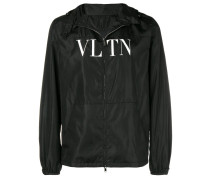 hooded logo jacket