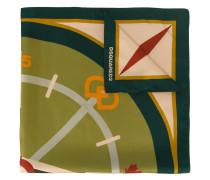 Seidenschal mit Kompass-Print