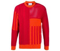 Pullover im Strickmuster-Mix