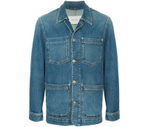 Jeansjacke mit aufgesetzten Taschen
