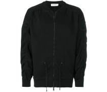 drawstring bomber jacket