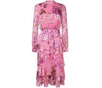 Volant-Kleid mit Blumen-Print