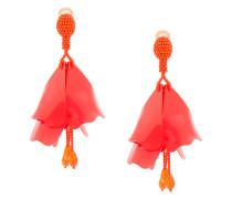 large impatiens clip-on earrings