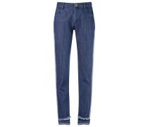 Schmale Jeans mit Kontrasteinsatz