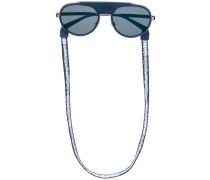 Pilotenbrille mit runden Gläsern