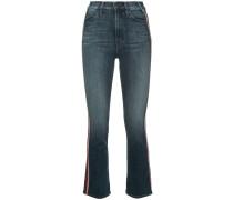 Cropped-Jeans mit dekorativen Streifen