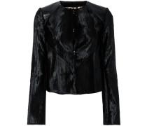 velvet fitted jacket