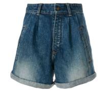 stonewashed high waist denim shorts