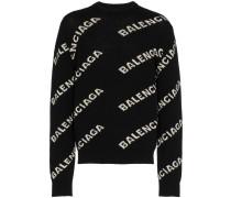 Pullover mit Logomuster
