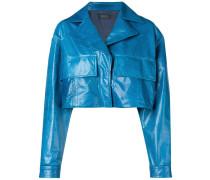Cropped-Jacke mit Oversized-Taschen