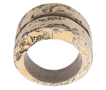 Vergoldeter Ring im Used-Look