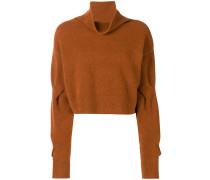 Cropped-Pullover mit Rollkragen