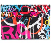 Kartenetui mit Graffiti-Print