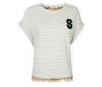 striped fringed T-shirt