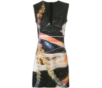 space print mini dress