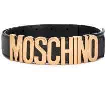 132a63a02cd05 Gürtel mit Logo-Schild. Moschino