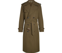 Reversible Tropical Gabardine and Check Trench Coat