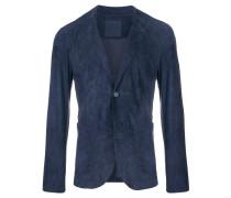 classic leather suit jacket