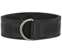 slogan-detail woven belt