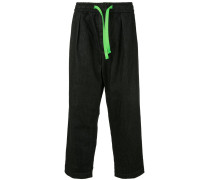 drawstring waist loose fit trousers