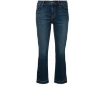 Cropped-Jeans mit Farbeffekt