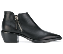 pointed toe low top boots