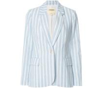 two tone striped blazer