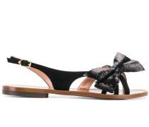 Flache Sandalen mit Pailletten