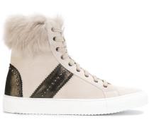 High-Top-Sneakers mit Kunstfellbesatz