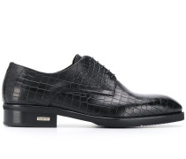 Oxford-Schuhe mit Kroko-Effekt