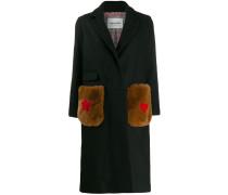 Mantel mit Kontrasttaschen