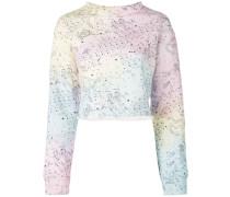Sweatshirt mit Regenbogen-Print