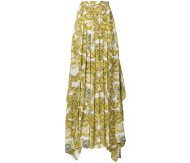 baroque pleated maxi skirt