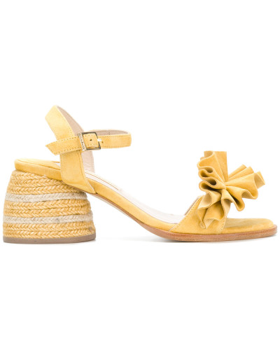 ruffle front sandals
