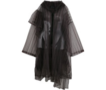 striped tulle coat