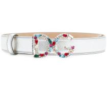 gemstone logo buckle belt
