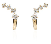 18kt 'Aria' Gelbgoldohrringe mit Diamanten