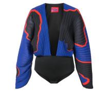 V-neck colour block bodysuit