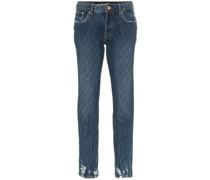 Skinny-Jeans mit Kristallen