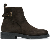 Strap Boots With Crepe Sole