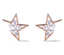 18kt 'Abstract Star' Rotgoldohrringe