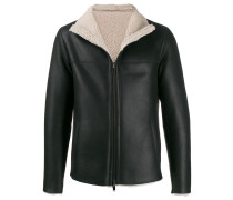 zipped shearling jacket