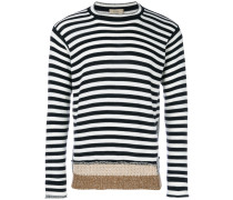striped panelled jumper
