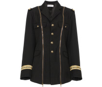 Military jacket with zip detailing