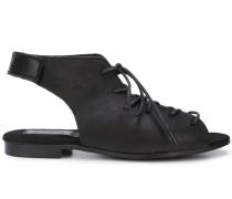 Slingback-Sandalen mit Schnürung