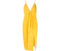 Drapiertes Kleid mit Schlitz