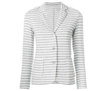 striped fitted blazer
