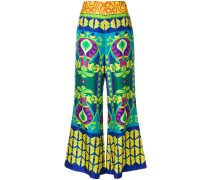 Psychedelic flower cropped trousers
