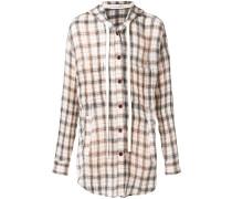 Flannelhemd mit Kapuze