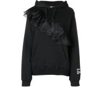 ruffled detail hoodie